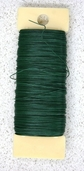 26 Gauge Floral Paddle Wire - Green