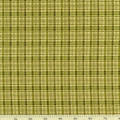 A Cat for all Seasons Plaid Cotton Fabric - Green 2863-44