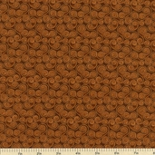 A Cat for all Seasons Scroll Cotton Fabric - Brown 3668-77