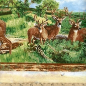 A Change Of Scenery Deer Flannel Cotton Fabric - Multi 1848-63001-907