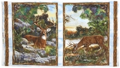A Change Of Scenery Deer Flannel Cotton Panel - Multi 1848-63000-427