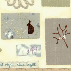 A Field Guide Charming Nature Cotton Fabric