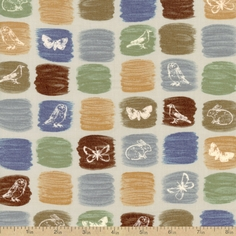 A Field Guide Creatures Cotton Fabric - Drizzle