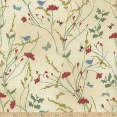 A Field Guide Meadow Cotton Fabric - String