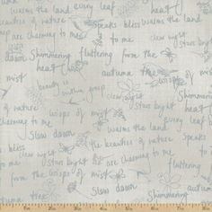 A Field Guide Notes Cotton Fabric - Drizzle