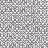 A Ghastlie Clover Cotton Fabric - Grey