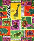 A is for Africa Cotton Fabric - Multi