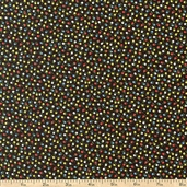 A is For... Dots Cotton Fabric - Black