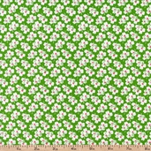 A is For... Small Flower Cotton Fabric - Green