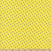 A is For... Swirls Cotton Fabric - Yellow