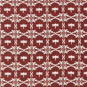 A La Maison Cotton Fabric - Crimson - ATD-11525-91