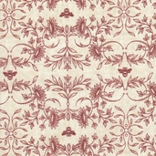 A La Maison Cotton Fabric - Crimson - ATD-11526-91 - Clearance
