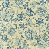 A La Maison Cotton Fabric - Dusty Blue - ATD-11523-68 - Clearance