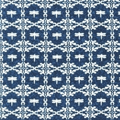 A La Maison Cotton Fabric - Dusty Blue - ATD-11525-68 - Clearance