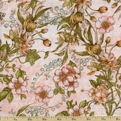 A Ladies' Diary Delicate Details Cotton Fabric - Pink 1825-85547-337W