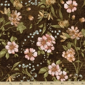 A Ladies' Diary Delicate Details Cotton Fabric - Vintage Black 1825-85547-937W