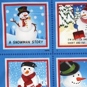 A Snowman Story Cotton Fabric - Panel Book