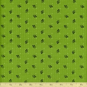 A Touch of Baltimore Tossed Sprigs Cotton Fabric - Green