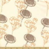 Abbey's Garden Cotton Fabric - Cream Floral - Clearance