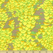 Abstract Geometric Cotton Fabric Shell Scape - Yellow - CLEARANCE