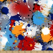 Action Splatter Cotton Fabric - Multi Color - CLEARANCE