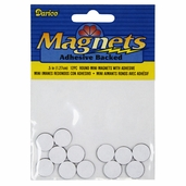 Adhesive Backed Mini Magnets - Package of 6