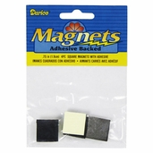 Adhesive Backed Square Magnets - Package of 6