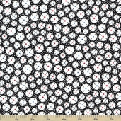 Adventures with Alice Cotton Fabric - Black - ADZ-11461-2 - Clearance