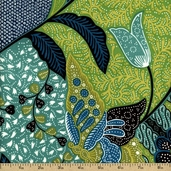 Africa Kibibi Cotton Fabric - Green DE#7658-H