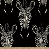 Africa Zahara Cotton Fabric - Black DE#7695-E