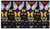 African Butterfly Cotton Fabric - Black