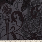 After Dark Collage Cotton Fabric - Smoke DE#7740-A