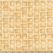 Al Dente Ravioli Cotton Fabric - Tan