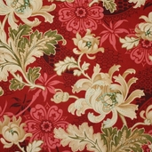 Alexandra Cotton Fabric - Red