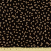 All About Coffee Bean Toss Cotton Fabric - Black 60577-8