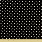 All About Coffee Polka Dot Cotton Fabric - Black 60580-8