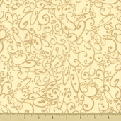 All About Coffee Swirls Cotton Fabric - Cream 60578-90