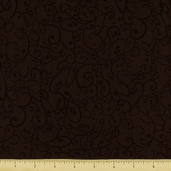 All About Coffee Swirls Cotton Fabric - Mocha 60578-9
