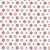 All Star 2 Cotton Fabric - White - Clearance price is for 2 7/8 yards.