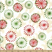 All Wrapped Up Snowflakes Cotton Fabric - White