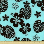 Aloha Flannel Fabric - Spa
