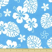 Aloha Flannel Fabric - Surf