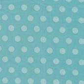 Alphabet Zoo Dot Cotton Fabric - Aqua