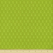 Alpine Wonderland Cotton Fabric - Berry - Green