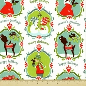 Alpine Wonderland Cotton Fabric - Wonderland - White