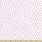 Always and Forever Cotton Fabric - Choco Pink Polka Dots