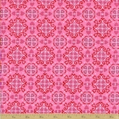 Always and Forever Cotton Fabric - Passion Pink