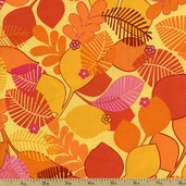 Always Blooming Cotton Fabric - Mango J3216-127
