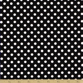 Amelie Cotton Fabric - Black Dot