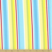 Amelie Cotton Fabric - Multi Stripe